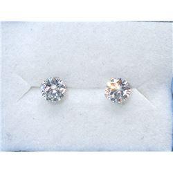 New 14KT White Gold Cubic Zirconia Earrings