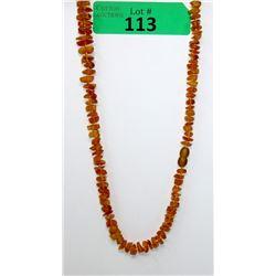 72.5 CTW Orange Baltic Amber Necklace