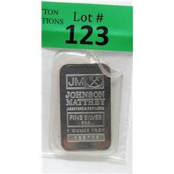 1 Oz Johnson Matthey .999 Fine Silver Bar