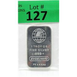 1 Oz Engelhard .999 Fine Silver Bar