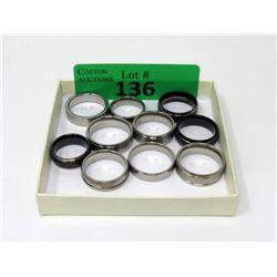 10 Brand New Titanium Band Rings