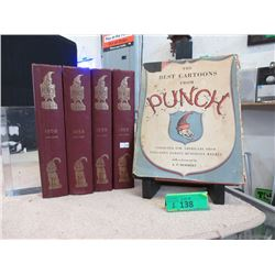 Collection of 1950s Punch Annuals & Cartoon Books