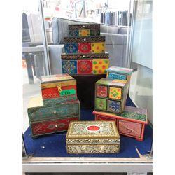 9 New Wood Jewelry & Keepsake Boxes