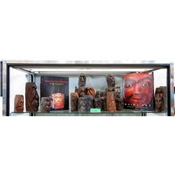 2 First Nations Art Books & 20 Carvings