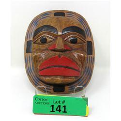 "Signed Artie George ""Moon Mask"" - Carved Cedar"