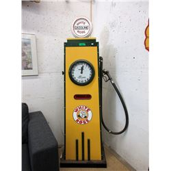 White Rose Gas Pump - Metal has been restored