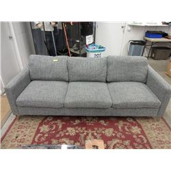 "New Light Grey Fabric Upholstered 88"" Sofa"