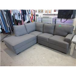 "New Grey Fabric Corner Sectional - 76"" x 86"""