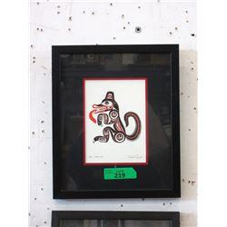Bill Reid Framed Print - Godji-Haida Wolf