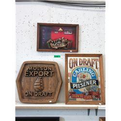2D Molson Draft Wall Sign, Pub Mirror & More