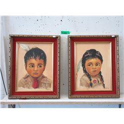 Two 1976 A. Goertzen Oil on Board Paintings