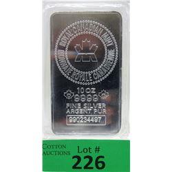 10 Oz Royal Canadian Mint .9999 Silver Bar