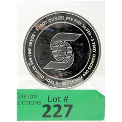 5 Oz Scotia Bank .999 Silver Round