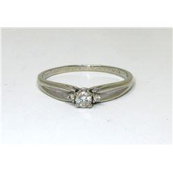 10KT Ladies White Gold Diamond Ring