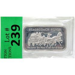 1 Oz Stagecoach.999 Silver Art Bar