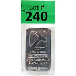 1 Oz. Pan American .999 Silver Bar