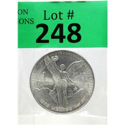 1 Oz 1985 Mexican Libertad .999 Silver Coin