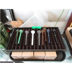 """9 Boxes of New 5"""" Glass Pipes- 8 Per Box"""