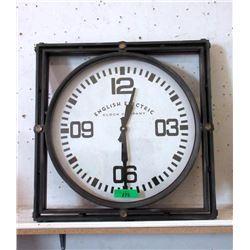 "New Industrial ""English Electric"" Metal Wall Clock"