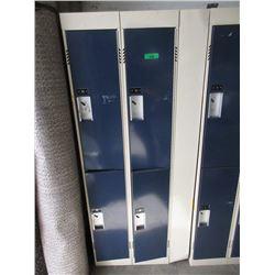 """4 Door Bank of Metal Lockers 18"""" x 24"""" x 72"""" Tall"""