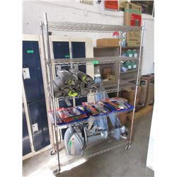 5 Shelf Metal Commercial Rolling Rack