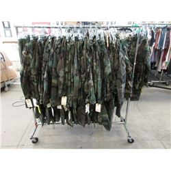 Rack of Camouflage Jackets and Pants