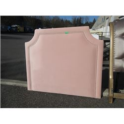 New Queen Size Pink Fabric Upholstered Headboard
