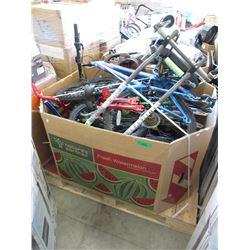 Skid of Assorted Bike Frames, Tires & More