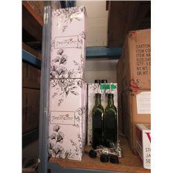 """7 New Oil and Vinegar Bottle Sets -9"""" Tall Bottles"""