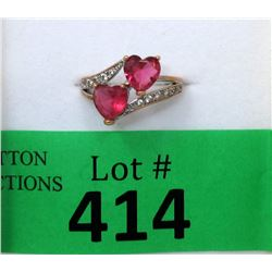 New Pink Tourmaline Heart Ring