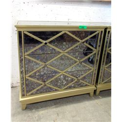 New Home Elegance Mirrored 3 Drawer Chest