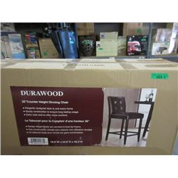 """2 New 25"""" Counter Height Dining Chairs - Brown"""