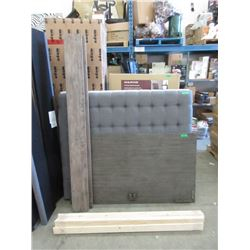 New Queen Size Wood Bed Frame - No Foot Board