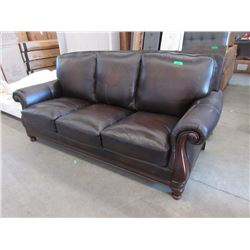 New Brown Leather Sofa - Scratches on the leather