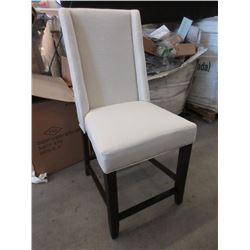 "2 New 29"" Pub Height Fabric Upholstered Chairs"