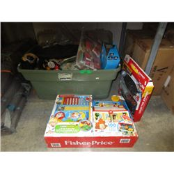 Tote of Toys & Houehold Goods - Some New
