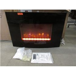 "New Dynasty 36"" Curved Wall Mount Fireplace"