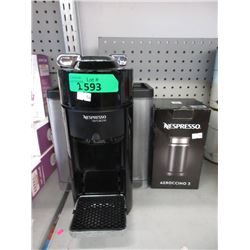 Nespresso Vertuo Coffee Maker & New Milk Frother