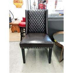 New Brown Side Chair with Nail Head Detail