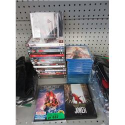30 Assorted DVD & Blu Ray Movies, TV Shows & More