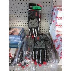 6 Pairs of BDG Driller Gloves - Size XL