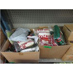 2 Cases of Christmas Stockings & Decorations