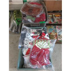 2 Totes of Assorted Christmas Stockings