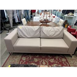 New Beige Leather Sofa by SofaLab