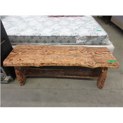 Hand Crafted Lived Edge Pine Coffee Table / Bench