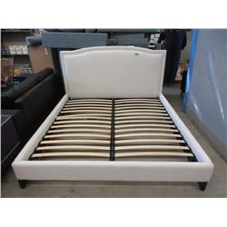 New Fabric Upholstered King Size Bed Frame
