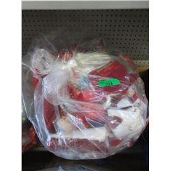 Large Bag of New Christmas Stockings and Decor