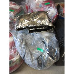 Large Bag of Assorted New Puffer and Other Scarves