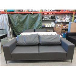 New Dark Grey Leather Sofa by SofaLab