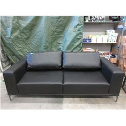 New Black Leather Sofa by SofaLab
